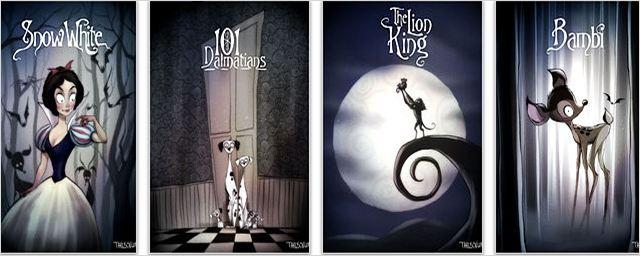 Tim Burton Elinden Çıkma Disney Karakterleri!
